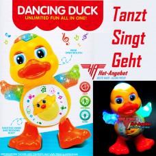 Entlein Elektrisches Spielzeug mit Bewegung Sound Licht Musik Geht Tanzt Singt