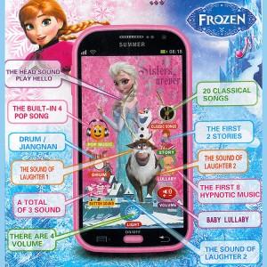 Frozen Disney Smart Phone Handy Spielzeug Touch Screen Sound Musik Licht Songs