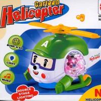 Hubschrauber Helicopter Spielzeug mit Bewegung Motor Sound Licht Musik 18cm