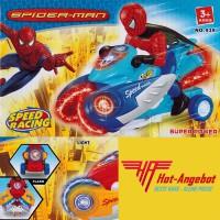 Spider-Man Elektrisches Spielzeug mit Bewegung Motor Sound Licht Musik 20cm