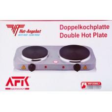AFK Germany Doppelkochplatte Herd 2500 Watt (1500W+100W) 185mm+155mm Herdplatte