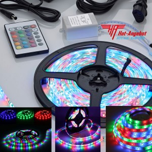 300 LED 5M RGB SMD Streifen Lichtkette Fernbedienung Farbwechselnd Biard Top