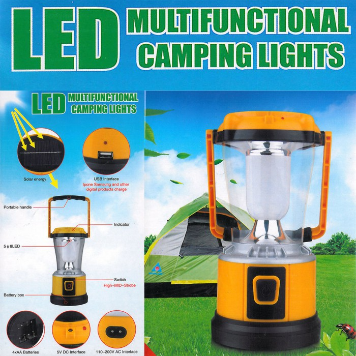 solar led camping laterne zeltlampe sturmlampe leuchte akku ladeger t usb. Black Bedroom Furniture Sets. Home Design Ideas