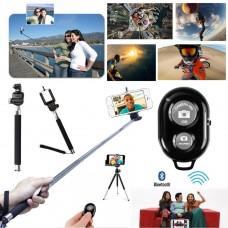 Selfie Stange Stick Stab Stativ Bluetooth Auslöser Fernbedienung IOS Android