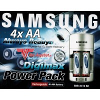 Original Samsung Power Set SNB-2312 4x AA Akkus 2300 + Ladegerät in OVP Digimax