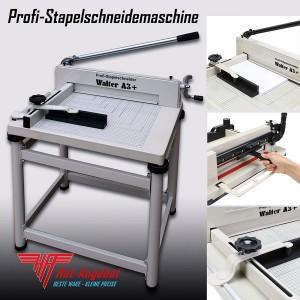 WALTER A3+ Profi Stapelschneidemaschine Schneider A3 plus A3 A4 bis zu 44mm Höhe