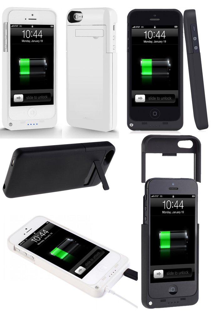 akku 2200mah iphone 5 5s power case ladestation extern. Black Bedroom Furniture Sets. Home Design Ideas